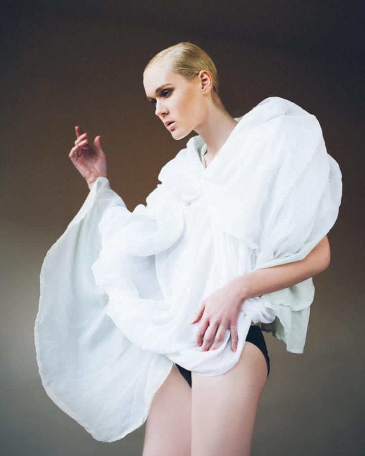 Annie Montgomery in the Cloud Cape. Photo by Lavenda Memory.